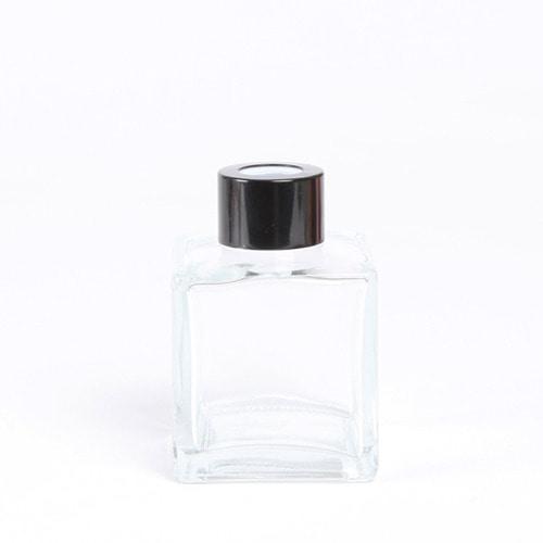디퓨저용기_기본사각 [100ml / 투명 / 블랙캡](WL)