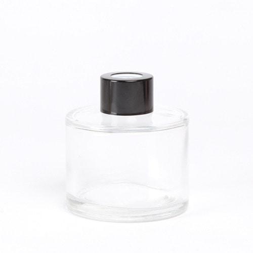 디퓨저용기_기본원형 [100ml / 투명 / 블랙캡](WL)