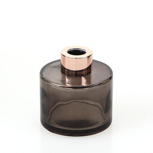 디퓨저용기_기본원형 [100ml / 블랙 / 로즈골드캡](WL)