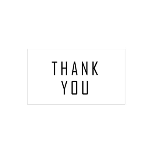 화이트 심플 라벨_ THANK YOU [1세트_5개](WL)