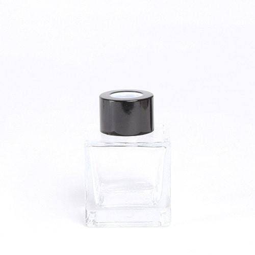디퓨저용기_기본사각 [50ml / 투명 / 블랙캡](WL)