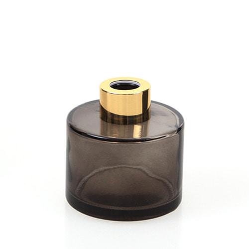 디퓨저용기_기본원형 [100ml / 블랙 / 골드캡](WL)