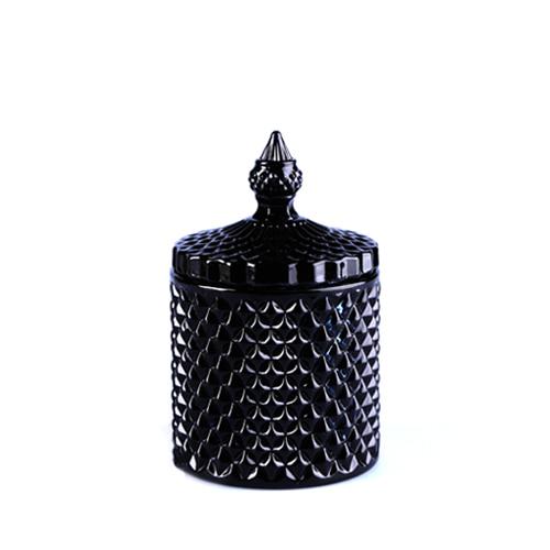 캔들용기_불꽃크리스탈 [250ml / 블랙](WL)