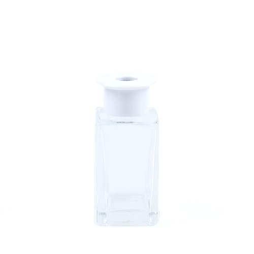 T 쉐입용기_사각 [100ml / 투명 / 화이트캡](WL)