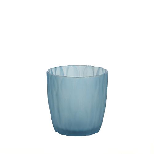 웨이브 캔들용기 [140ml / 블루](WL)